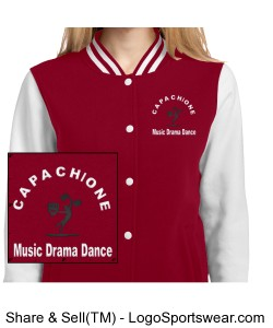 Ladies Fleece Letterman Jacket Design Zoom